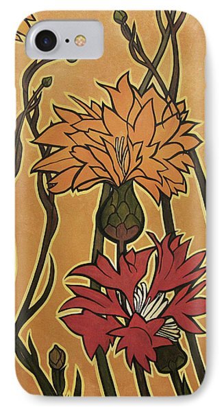 Mucha Ado About Flowers Phone Case by Carrie Jackson