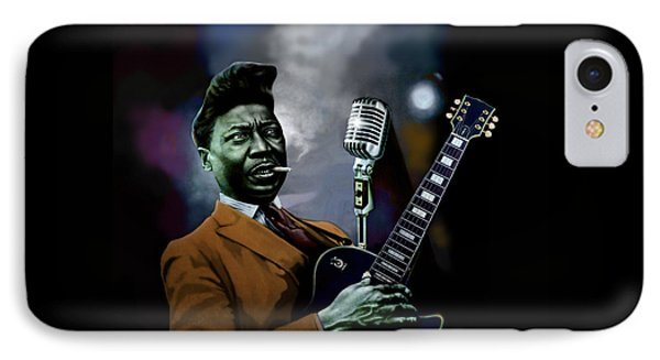 IPhone Case featuring the mixed media Muddy Waters - Mick Jagger's Grandfather by Dan Haraga