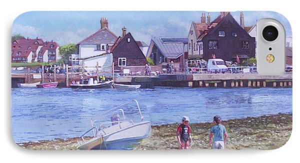 IPhone Case featuring the painting Mudeford Quay Christchurch From Hengistbury Head by Martin Davey