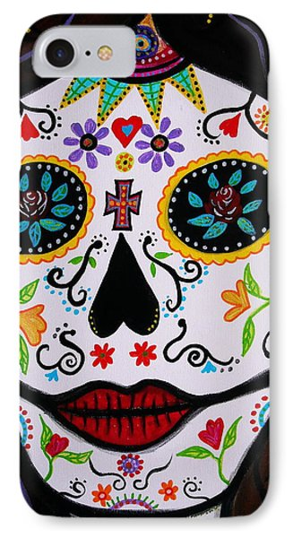 IPhone Case featuring the painting Muertos by Pristine Cartera Turkus