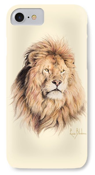 Mufasa IPhone 7 Case by Lucie Bilodeau