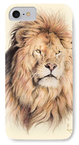 Lion iPhone 7 Case - Mufasa by Lucie Bilodeau