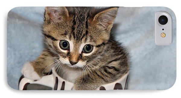 Mug Kitten IPhone Case by Teresa Zieba