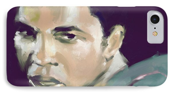 Muhammad Ali 551 2 IPhone Case by Mawra Tahreem