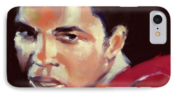 Muhammad Ali 551 3 IPhone Case by Mawra Tahreem