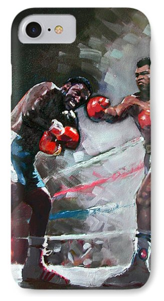 Muhammad Ali And Joe Frazier IPhone Case by Ylli Haruni