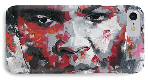 IPhone Case featuring the painting Muhammad Ali II by Richard Day