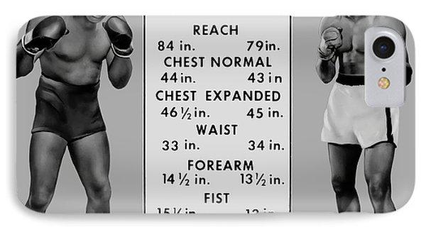 Muhammad Ali Vs Sonny Liston - Tale Of The Tape 1964 IPhone Case