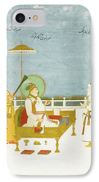 Muhammad Shah Enthroned With Nawab IPhone Case