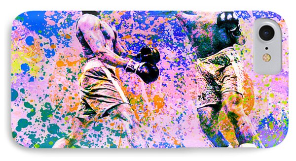 Muhammed Ali Vs Joe Frazier Sport Pop Art Pur 1 IPhone Case