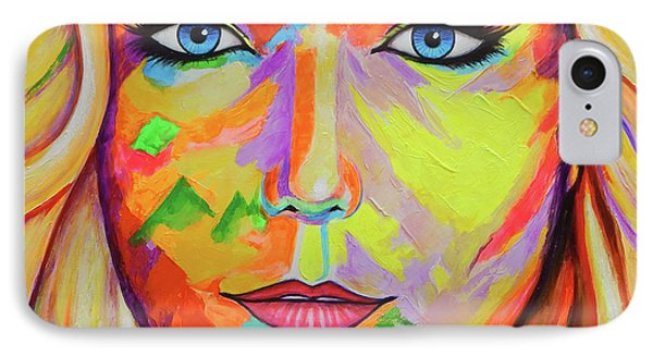 Mujer IPhone Case by Angel Ortiz