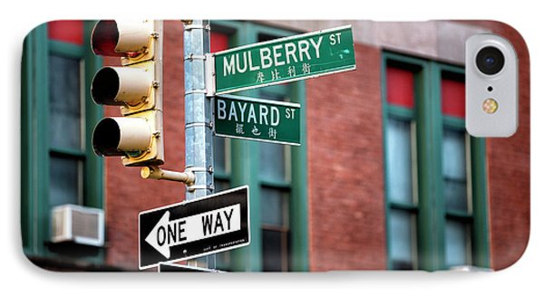 IPhone Case featuring the photograph Mulberry And Bayard by John Rizzuto