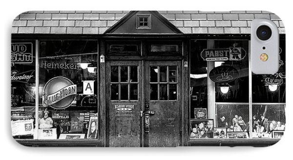 IPhone Case featuring the photograph Mulberry Street Bar Windows by John Rizzuto