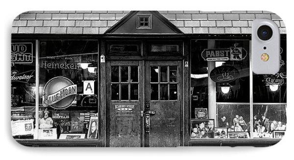 Mulberry Street Bar Windows IPhone Case by John Rizzuto