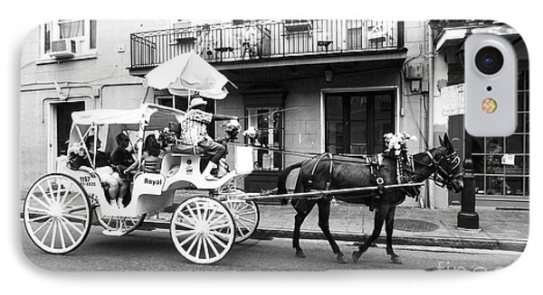 Mule And Buggy French Quarter New Orleans Phone Case by Thomas R Fletcher