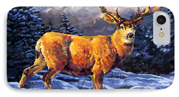 Mule Deer 2 IPhone Case by Tim Gilliland