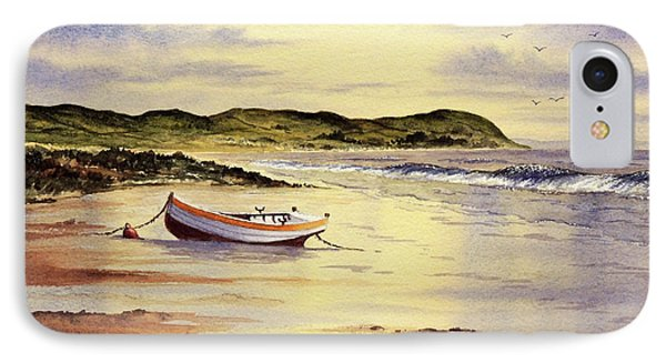 IPhone Case featuring the painting Mull Of Kintyre Scotland by Bill Holkham