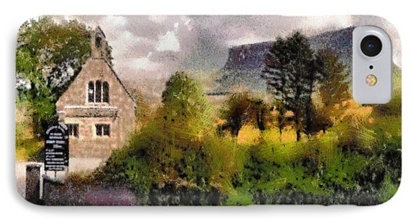 Mullaghnaneane Church And Ben Bulben IPhone Case