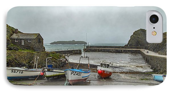 IPhone Case featuring the photograph Mullion Cove Harbour by Brian Roscorla