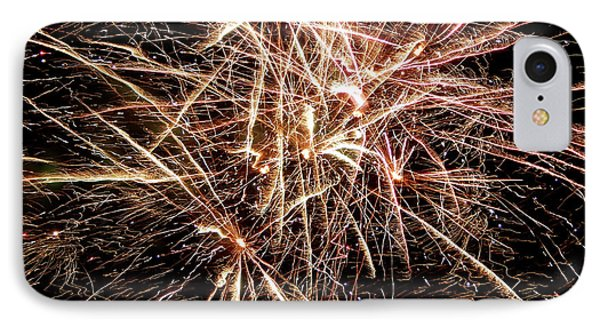 IPhone Case featuring the photograph Multi Blast Fireworks #0721 by Barbara Tristan