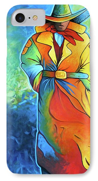 Multi Color Cowboy Phone Case by Lance Headlee