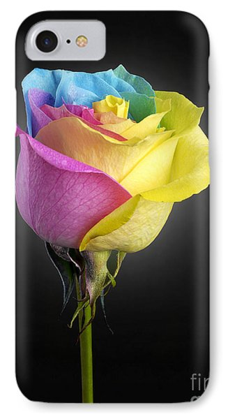 Rainbow Rose 1 IPhone Case by Tony Cordoza