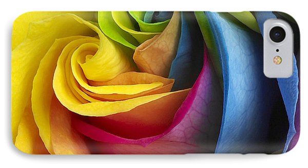 Rainbow Rose IPhone Case by Tony Cordoza
