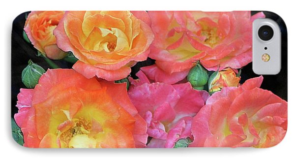 IPhone Case featuring the photograph Multi-color Roses by Jerry Battle