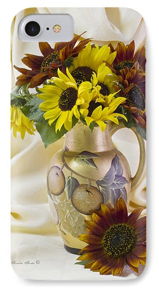 Multi Color Sunflowers Phone Case by Sandra Foster
