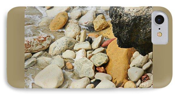 multi colored Beach rocks IPhone Case