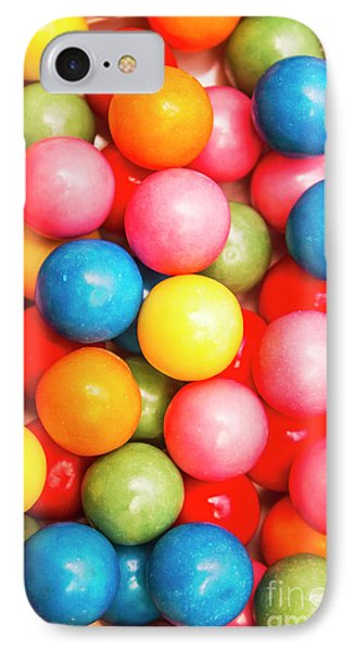Multi Colored Gumballs. Sweets Background IPhone Case