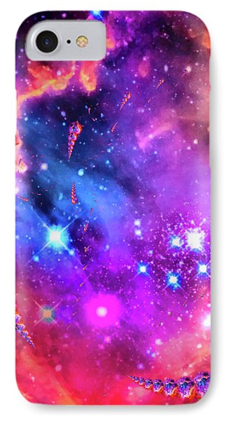 Multi Colored Space Chaos IPhone Case
