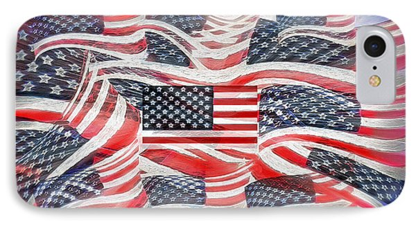 Multi - Flag Abstract  IPhone Case by Steve Ohlsen