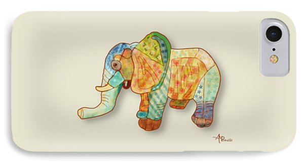 Multicolor Elephant IPhone Case by Angeles M Pomata