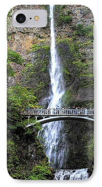 Multnomah Falls, Columbia River Gorge IPhone Case by Greg Sigrist