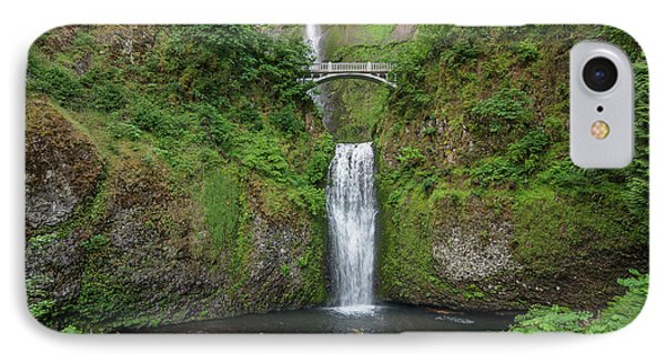 Multnomah Falls In Spring IPhone Case by Greg Nyquist