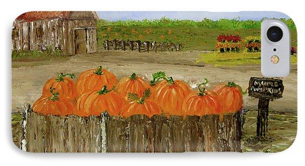Mum And Pumpkin Harvest IPhone Case