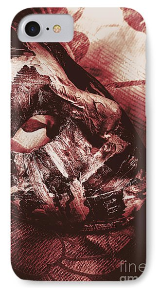 Mummified Paper Mache Horror Mask. Dark Carnival IPhone Case