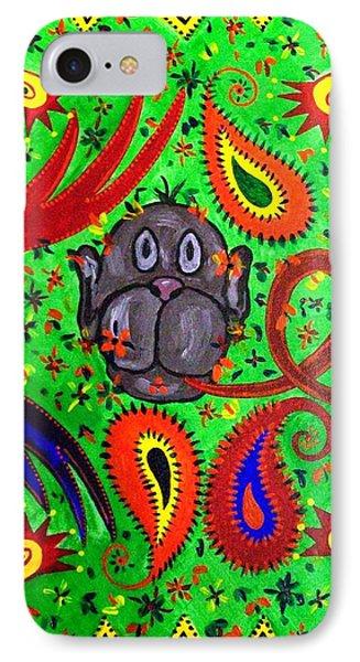 Mun Moji-hookah Monkey IPhone Case