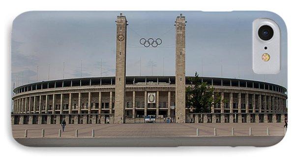 Berlin Olympic Stadium IPhone Case by Nichola Denny
