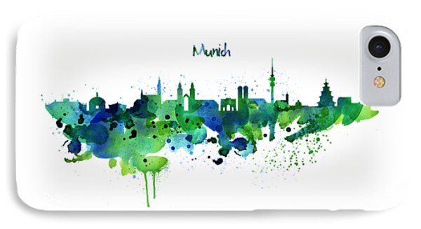 Munich Skyline Silhouette IPhone Case