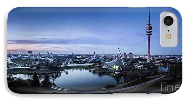IPhone Case featuring the photograph Munich - Watching The Sunset At The Olympiapark by Hannes Cmarits