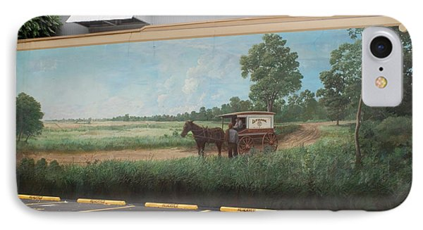 Mural Of Horse And Buggy In Arkansas Phone Case by Carl Purcell
