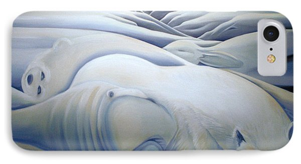 Mural  Winters Embracing Crevice Phone Case by Nancy Griswold