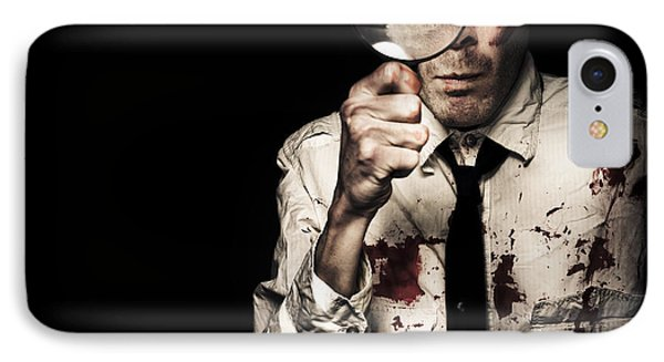 Murdered Businessman Searching For Homicide Clues IPhone Case