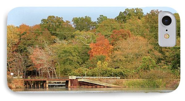 IPhone Case featuring the photograph Murphy Mill Dam/bridge by Jerry Battle