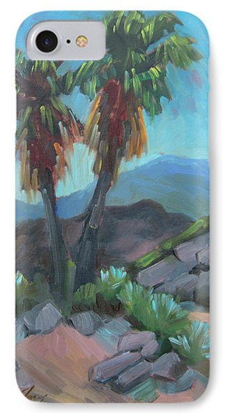 IPhone Case featuring the painting Murray Trail Andreas Canyon by Diane McClary