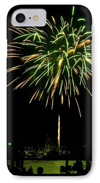 IPhone Case featuring the photograph Murrells Inlet Fireworks by Bill Barber
