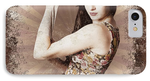 Muscle And Strength Pinup Poster Girl IPhone Case by Jorgo Photography - Wall Art Gallery