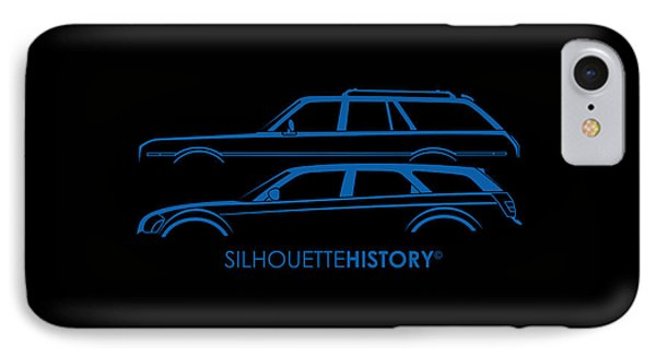 Muscle Wagon Silhouettehistory IPhone Case by Gabor Vida